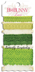 Lace Clover Green Scrapbooking Paper Crafting Embellishment BoBunny Bo Bunny NEW