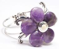Laliberi Jewelry Kit Sliver Cuff Bracelet Deco Sway Amythest Flower EK Success