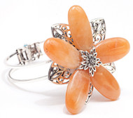 Laliberi Jewelry Sliver Cuff Bracelet Kit Venetian Peach Flower EK Success NEW