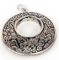 Laliberi Scarf Charm Jewelry Ornament Sliver Filigree Circle EK Success NEW