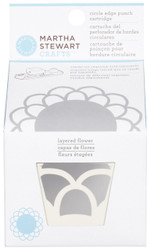 Layered Flower Circle Edge Punch Cartridge Paper Crafting Martha Stewart Crafts