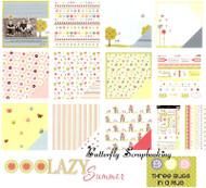LAZY SUMMER 12X12 Scrapbooking Kit 3 BUGS IN A RUG NEW