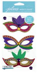 Mardi Gras Masks EK SUCCESS Jolee's Boutique 3D Stickers NEW