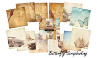 MEMORIES Scrapbooking 6x6 inch Paper Pad INDIGOBLU Mixed Media 24 Sheets NEW