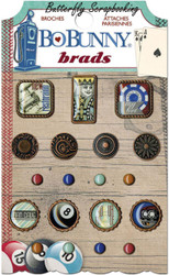 Men Wild Card Collection Scrapbooking BRADS Pack BoBunny 17004568 NEW