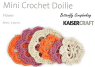 Mini Crochet Flowers Scrapbooking Paper Crafting Embellishment Kaisercraft NEW
