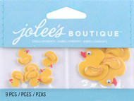Mini Rubber Duckies EK SUCCESS Non-Adhesive Embellishments NEW 9 Pieces Yellow