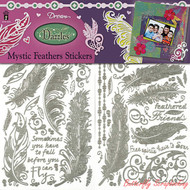 Mystic Feather Stickers, Dazzles Scrapbook Stickers HOT OFF THE PRESS, NEW- 2818