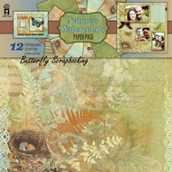 NATURE'S WATERCOLORS 12x12 Scrapbooking Paper Pack HOT OFF THE PRESS 4164 NEW