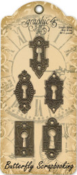 Ornate Metal Lock Scrapbooking Paper Crafting Embellishments Graphic 45 4500546