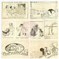 PAINTABLES Vintage Paintable Cards 16 Pieces PRIMA Marketing Inc. 813970 NEW