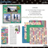 PARADISE TRAVEL 12X12 Scrapbooking Kit Paper Studio NEW