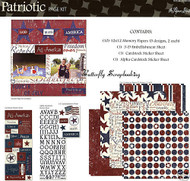 PATRIOTIC USA 12X12 Scrapbooking Kit Paper Studio NEW