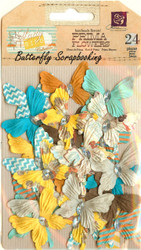 Prima Butterflies 24 Butterfly Lady Bird Collection Scrapbooking Prima NEW