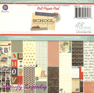 School Memories PRIMA MARKETING INC 6''x6'' Paper Pad, 48 Sheets - 846176