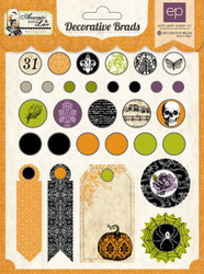 Scrapbooking Brads Halloween Arsenic Lace Coll Echo Park Paper Co. 31 pieces New
