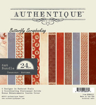 Seasons Autumn Collection 6x6 Scrapbooking Paper Crafting Pad Authentique NEW