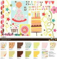 SEI BIRTHDAY Collection 12X12 Scrapbook Kit BIG NEW