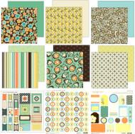 SEI PAISLEY & PETALS Collection 12X12 Scrapbooking Kit