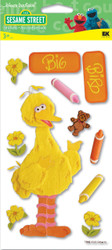 Sesame Street Big Bird 3D Stickers by EK Success New