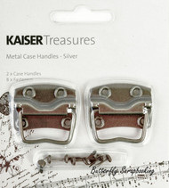 Silver Metal Case Handles, Scrapbooking Embellishments KAISERCRAFT, NEW - TM809