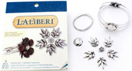 Silver Palm Leaf Cuff Bracelet, Laliberi Jewelry Kit EK SUCCESS - NEW, 56-27007