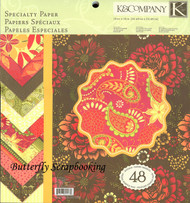 Smiply Scarlet Specialty 12X12 Scrapbooking Paper Pad K&Company 48 Sheets NEW