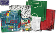 Soccer Champ Sports 12X12 Scrapbooking Kit Team Goal Soccer Karen Foster NEW