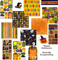 SPOOKY HALLOWEEN Collection 12X12 Scrapbooking Kit BIG