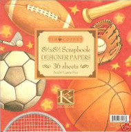 SPORTS Pad 8.5X8.5 36 Sheets Scrapbook Kit K&Company