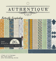 Strong Collection 6x6 Scrapbooking Paper Crafting Pad Authentique NEW