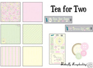 TEA PARTY COLLECTION 12X12 Scrapbooking Kit MOXXIE NEW