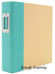 "Teal & Craft 6"" x 8"" inch Scrapbooking Binder Snap Studio by Simple Stories NEW"