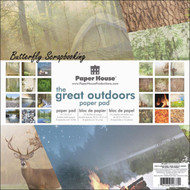 THE GREAT OUTDOORS 12x12 Scrapbooking Paper Pad 24 Sheet Paper House PP-0027 NEW