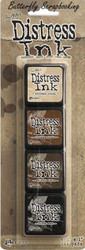 Tim Holtz DISTRESS Ink Mini Ink Pads 4 Pack Tim Holtz Ranger TDPK40330 NEW