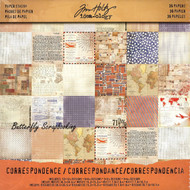 TIM HOLTZ IDEA-OLOGY 12X12 Scrapbooking Paper Pad Paper Stash CORRESPONDENCE NEW