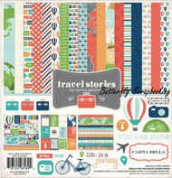 TRAVEL STORY Collection 12X12 Scrapbooking Kit Carta Bella Paper CB-TS40016 NEW