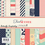 Trend Setter Collection Scrapbooking 6x6 inch Paper Pad Fancy Pants 36 Sheet NEW