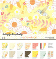 Vanilla Sunshine Collection Pack 12X12 Scrapbook Kit Summer Fun 24 Sheets NEW