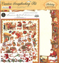 Vintage CHRISTMAS Creative 12X12 Scrapbooking Kit NEW