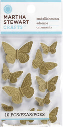 Vintage Metal Heirloom Butterfly 3D Scrapbook Stickers Martha Stewart Crafts NEW