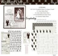 Wedding Day 12X12 Scrapbooking Kit The Paper Studio Bride & Groom Love NEW