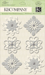 Wedding Elegance Flowers 3D Scrapbook Stickers Grand Adhesions K&Company NEW