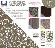 Wedding Love Romance 12X12 Scrapbooking Kit Cloud 9 Design 176 pieces NEW