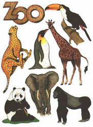 ZOO Scrapbook Die Cuts Quick Cropper Cuts Outdoors & More NEW