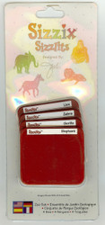 Sizzix Sizzlits, Dies Zoo Set - NEW, 38-9615