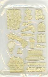 Clear Unmounted Stamps, Birthday Theme - NEW, 0019927