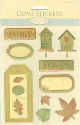 Dome Stickers, Fun Journal Tags - NEW, 081100175
