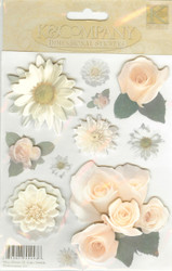 Dimensional Stickers, Flowers, K&COMPANY - NEW, 554436