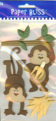 Adhesive Accents, Monkeying Around - NEW, 26754-PE-101
